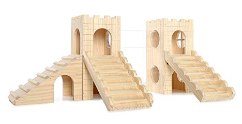Niteangel Great Wall Playground, Small Animal Activity Center (Castle Hamster)