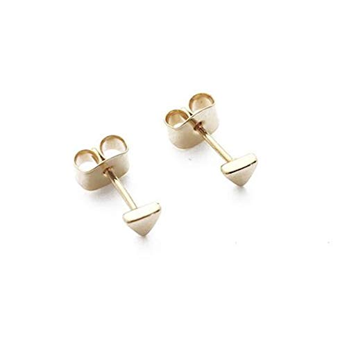 - HONEYCAT Tiny Triangle Stud Earrings in 24k Gold Plate | Minimalist, Delicate Jewelry (G)