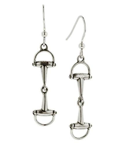 Kabana Horse Snafle Bit Dangle Earrings in Sterling Silver ()