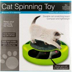 Cat Wmu - WMU Cat Scratch Pad Spinning Toy with Mouse