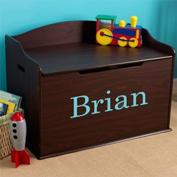 Personalized Austin Toy Box- Espresso by KidKraft