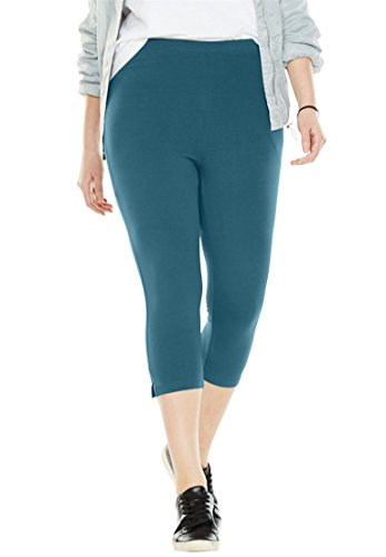 Women's Plus Size Stretch Cotton Capri ()