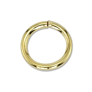 Beadalon 144-Piece 6-MM Jump Ring, Nickel Free Gold Plate 314A-006