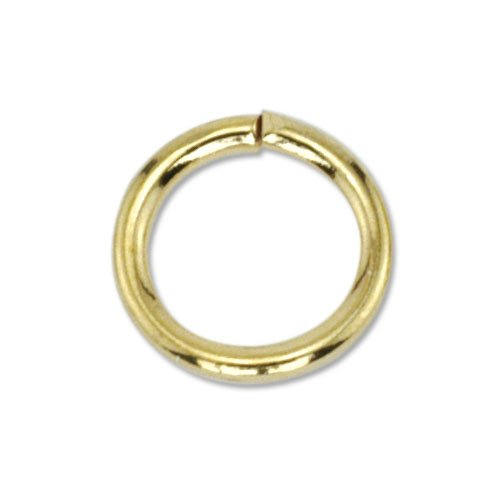 Beadalon 144-Piece 3-MM Jump Ring, Nickel Free Gold Plate