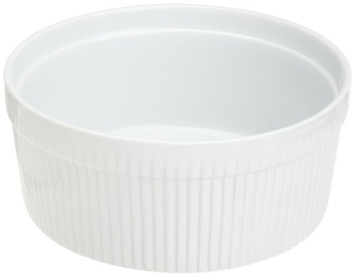 (Kitchen Supply 8013 White Porcelain Soufflé)