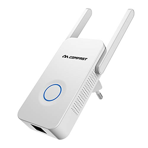 LJ2 WiFi Boosters, Wireless Signal Booster Repeater 1200Mbps 2.4Ghz 5.8Ghz Dual Band Broadband/Wi-Fi Extender/for Home Cafe Mall ()