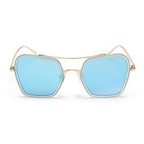 Retro KOMEISHO Sol Viajar Naranja Azul de Brillantes Libre Adulto Novedad Rimmed Style Color Playa Unisex al Tonos de UV diseñador Gafas Protección Irregular Color Lente Verano Conducción Aire rwrq1SXF