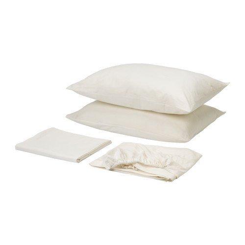 Ikea Dvala Sheet Set, Bright White Queen Gotton (Dvala Sheet Set Queen)