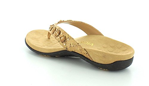 Floriana Womens Toe Cork Sandals Post Gold Vionic CqFwOw