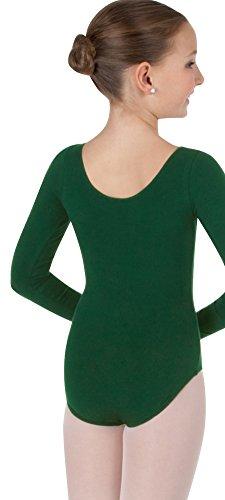 Body Wrappers Classwear Long Sleeve Ballet Cut Leotard, White, 12-14