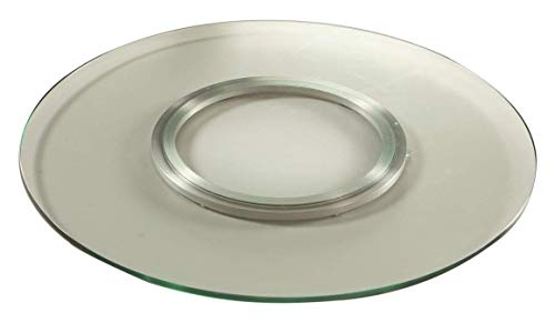 Chintaly Imports Round Spinning Tray, 24-Inch, Clear