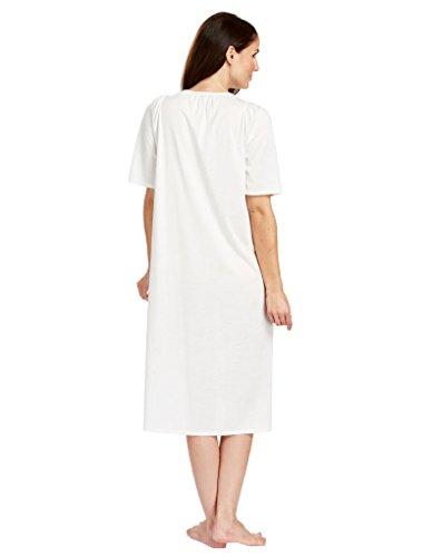 Feraud 3883040-10044 Women's Champagne White Cotton Night Gown Loungewear 12 by Feraud (Image #1)