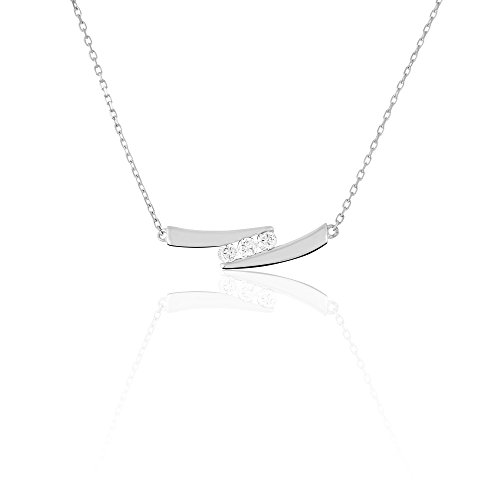 HISTOIRE D'OR - Collier Galya Or Blanc et Diamants - Femme - Or blanc 375/1000