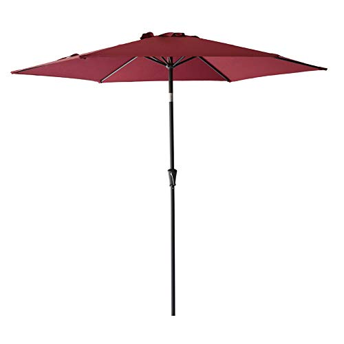 FLAME&SHADE 9' Outdoor Patio Umbrella Market Style for Garden Outside Table Yard or Balcony with Tilt, Burgundy