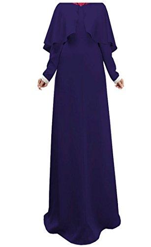 Kaftan Dress Blue Women Dress Cloak Muslim Long Sleeve Alion Abaya xXq6YWwzXd