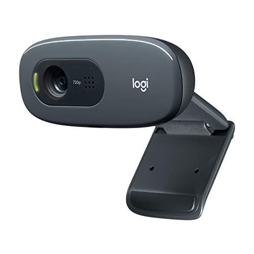 Logitech C270 HD Webcam, HD 720p/30fps, Widescreen HD Video Calling, HD Light Correction, Noise-Reducing Mic, for Skype…