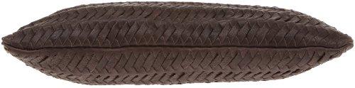 Loxwood Pochette Tressé, Damen Clutch Braun (Dark Brown)