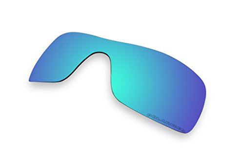 Sunglass Lenses Replacement Polarized for Oakley Batwolf Sunglasses- 9 Options Available (Green & Purple Mirror - Green Sunglasses Oakley Lenses
