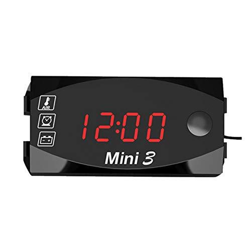 ampusanal Motorfiets Digitale Display Elektronische Horloge Thermometer Threeinone LED Elektronische Horloge Universele…