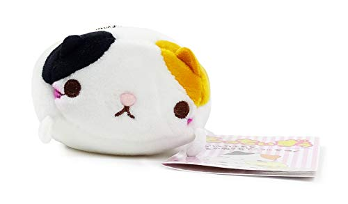 Yamani Japanese Mocchiizoo Small Stuffed Animal Plush Key Chain for Cell Phone & Key (Tri-Color Cat)