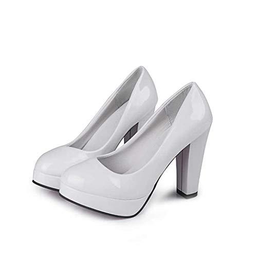 (Women Pumps,Classic High Heels Nude Sharp Head Paltform Wedding Dress Shoes)