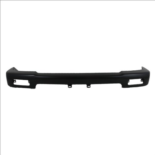 CarPartsDepot, Front Bumper Face Bar 4WD 1-Piece Black Steel Pickup Truck Assembly, 341-44221-10 TO1002103?5210135080?
