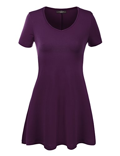 Made By Johnny WT769 Womens V Neck Trapeze Tunic M ()