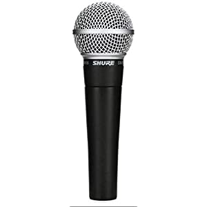 Shure SM58 Handheld Microphone with Boom Stand and Cable