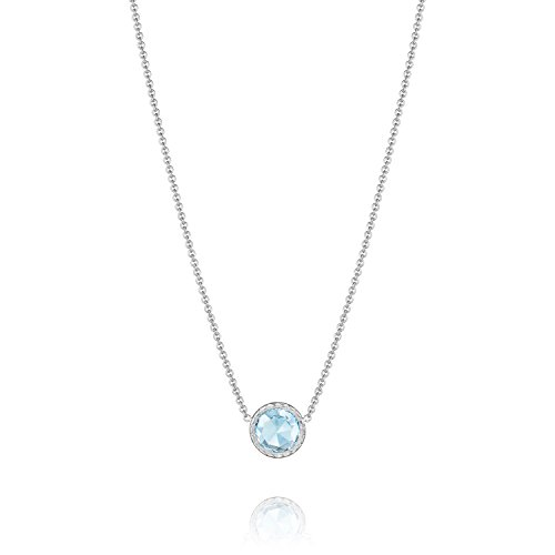 Tacori Bezel Necklace (Tacori SN15302 Island Rains Floating Bezel Sky Blue Topaz Necklace, 16