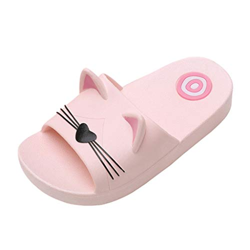 - Toponly Home Slippers for Baby Kids Girls Boys Non Slip Cartoon Cat Floor Family Shoes Beach Sandals
