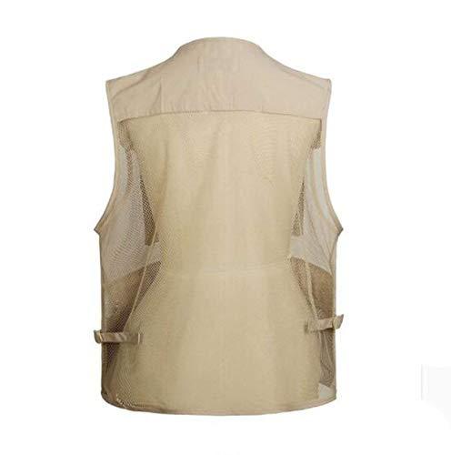 Multi pocket Photographie Tailles Multi Fashion Hx Outdoor Couleur Confortables Pêche Vest Vêtements 5 ZawXtITq