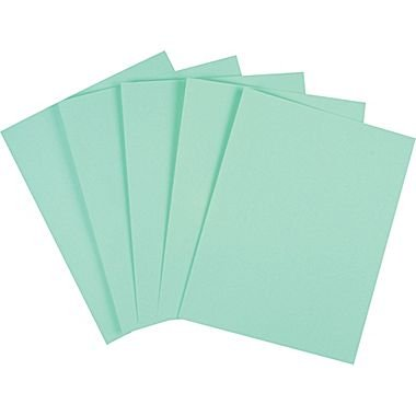 "Staples Cover Stock Paper, 8 1/2"" x 11"", Green"