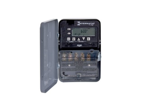 Intermatic ET1715C 7-Day 20/30-Amps SPDT Electronic Time Switch, Clock Voltage 120-Volt - 277-Volt NEMA ()