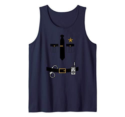 Police Sheriff Uniform Costume Design   Funny Halloween Gift Tank Top -