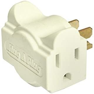 product image for HUG-A-PLUG DUAL OUTLET WALL ADAPTER, 6PK, IVORY