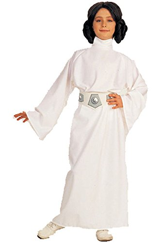 [Mememall Fashion Deluxe Princess Leia Child Halloween Costume] (Deluxe Plush Cow Mascot Costumes)