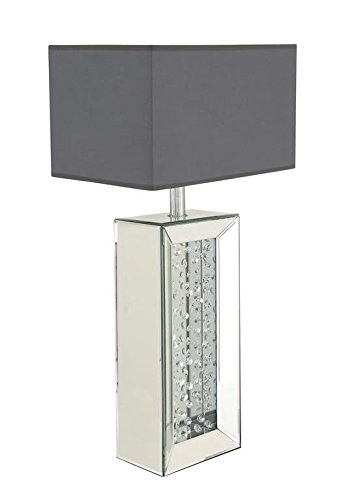 Deco 79 87296 Wood Mirror Table Lamp, 33'' by Deco 79