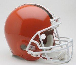 NFL Cleveland Browns Full Size Proline VSR4 Football Helmet by Riddell