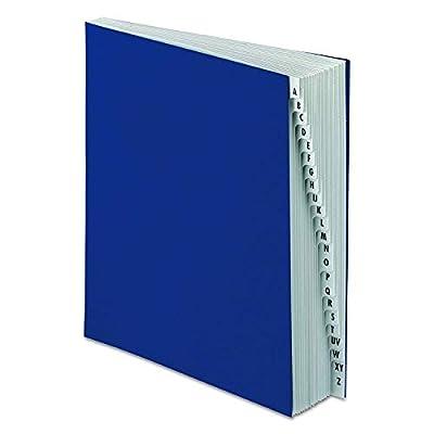 Pendaflex DDF3OX Expanding Desk File, A-Z, Letter Size, Acrylic-Coated Pressboard, Dark Blue
