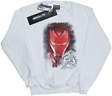 Marvel Herren Avengers Endgame Iron Man Brushed Sweatshirt Weiß XXXX-Large