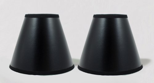 Urbanest Set of 2 Black Parchment Chandelier Lamp Shades wit