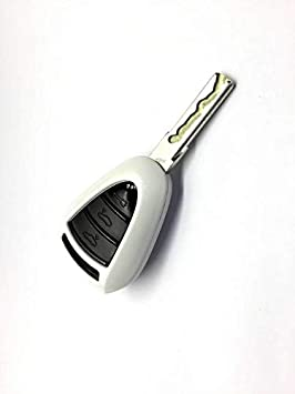 PAKCEEINC Keyless Remote Key Protection case fob Shell Cover for Porsche Silver Head Remote Key