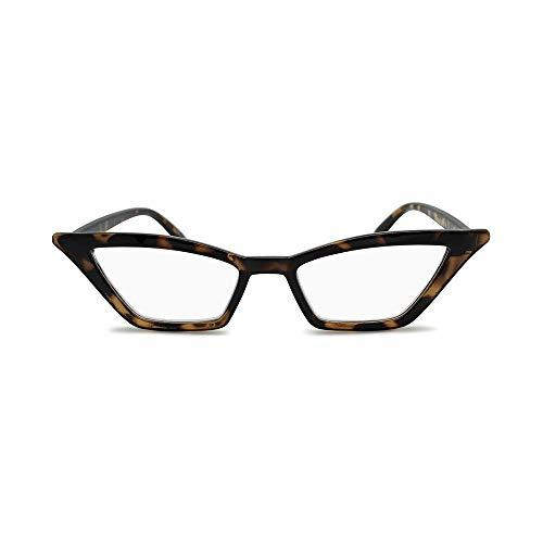2SeeLife- Designer Cat Eye Women's Reading Glasses Super Trendy Non Prescription Readers Modern Fashion Eyeglass Frame for Woman - Top Seller