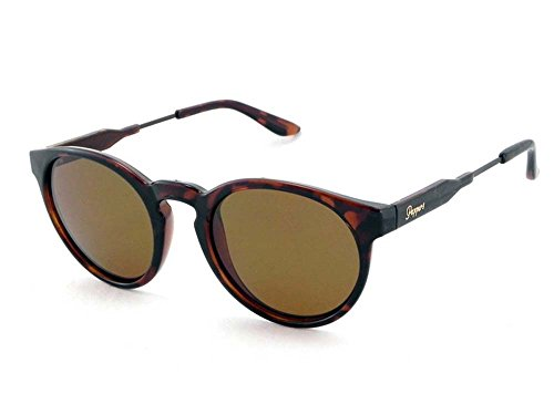 Peppers Polarized Sunglasses Kennedy Shiny Dark Tortoise with Brown Lens (Sunglasses Polarized Pepper)