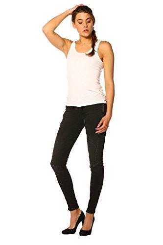 Only - Jeans CARMEN REGKZIP ANDNM JEANS_BLACK DENIM - Femme