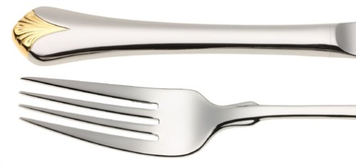 Yamazaki Cara Gold Accent 5-Piece Stainless-Steel Flatware Place Setting, Service for 1 ()