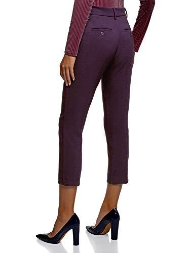 Pantalones Mujer Collection De 8800n Tiro Oodji Morado Medio Slim Sv7wqAzx