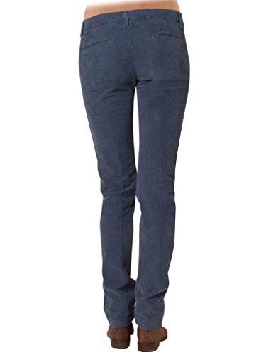 Per Velluto Tinta Donna Unita Blu 666 Jeans Carrera Pantalone EwHqUUP