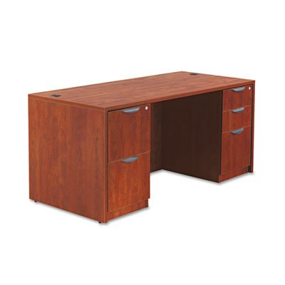 Valencia Series Straight Front Desk Shell, 65w x 29-1/2d x 29-1/2h, Med Cherry, Sold as 1 Each by Alera