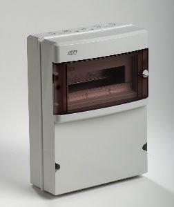 IDE - Caja eléctrica superficie, 1 fila, para enchufe impermeable IP 55 con puerta Star: Amazon.es: Iluminación